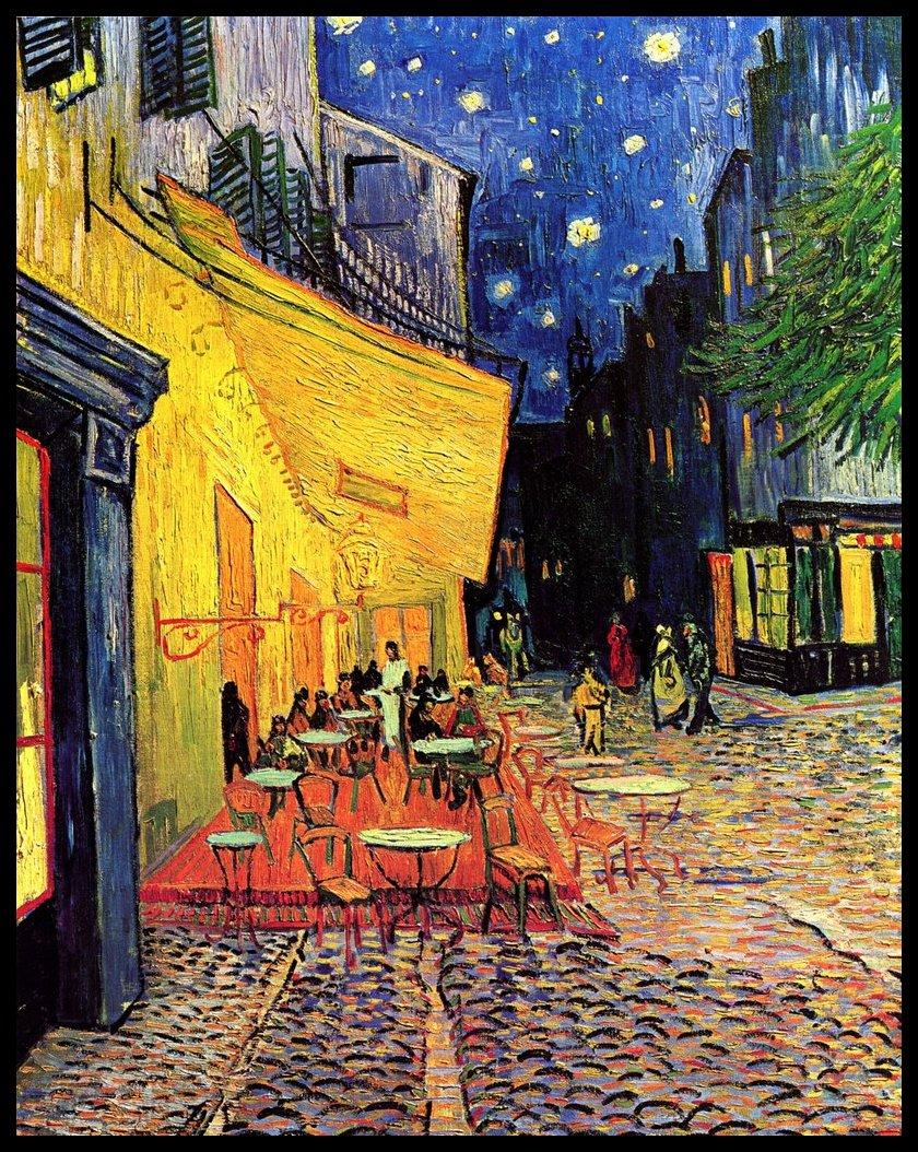 Terraza de caf por la noche de vincent van gogh 1888 for Que es la terraza